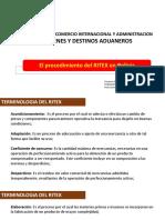Clase 11 Admision Temporal de Mercancias Procedimiento Ritex Gva Regimenes