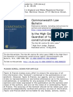 Commonwealth Law Bulletin Volume 18 Issue 4 1992 [Doi 10.1080%2F03050718.1992.9986233] Laws, John -- Is the High Court the Guardian of Fundamental Constitutional Rights