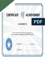 certificate of achievment
