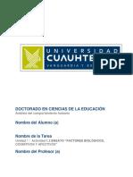 """""""Factores Biológicos, Cognitivos y Afectivos"""