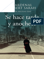 SARAH, Robert (Cardenal), Se Hace Tarde y Anochece, 2019 [Texto]