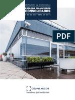 Notas Estados Financieros Consolidados Grupo Argos 2018