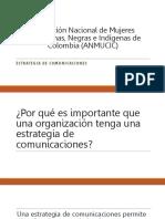 Presentación Estrategia de Comunicaciones ANMUCIC