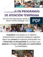 Familias en Programas de Atención Temprana