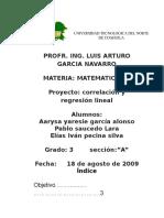 Matematicas Correlacion y Regresion Lineal