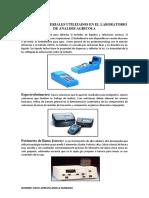 Equipos y Materiales Utilizados en El Laboratorio de Analisis Agricola