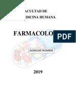 Facultad de Medicina Caratula Farmaco