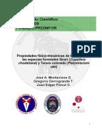 Montecinos Et Al. 2008 Propiedades Fisico Mecanicas de La Madera de Las Especies Forestales Sirari y Tarara Colorada