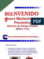 Mantenimiento preventivo N14 e ISM
