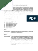 Cambio de Comite Ejecutivo Nacional 2019