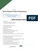 Decline of Education in Pakistan for CSS English Essay _ Atif Pedia.PDF