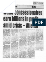 Peoples Journal, Oct. 28, 2019, Water concessioners earn billions in profit amid crisis - Atienza.pdf
