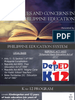 Issues in the Philippine Education