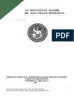 Pedoman Penyusunan Materi Ujian Tesis Dan Usulan Penelitian Tesis 2019
