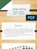 Language and Age
