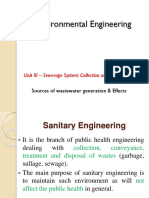 3.1 Sources of Wastewater Generation & Effects
