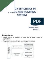 Energy Savings in pumps