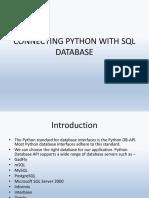 Python to MySql Connection