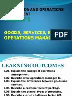 POM LEC Ch1 Goods, Services & OM