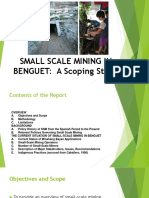 SMALL SCALE MINING IN BENGUET
