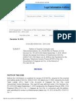 COA DECISION NO. 2012-238 Brgy. Telephone System