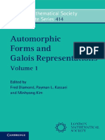 (414) (London Mathematical Society Lecture Note Series) Fred Diamond, Payman L. Kassaei, Minhyong Kim - Automorphic Forms and Galois Representations_ Volume 1-Cambridge University Press (2014)