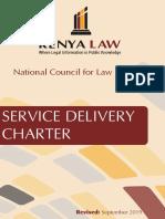Kenya Law Service Deliver Charter