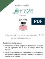 PreparaTIC26 20190713 Servicios Comunes