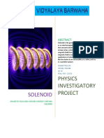 Physics Investigatory project on current carrying solenoid