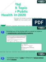 Recent phd research topic ideas for public health 2020 - Pubrica