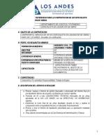 TDR Especilista Liquidación de Obra