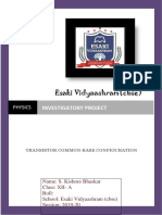 314485938 Physics Investigatory Project Common Base Transistor