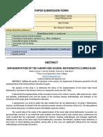 Garcia - Implementation of the Junior High School Mathematics Curriculum.docx
