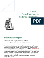 Lecture on formal methods in software engineering