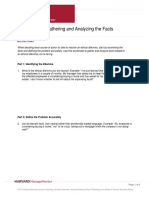 Worksheet for Gathering and Analyzing the Facts