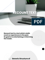 Recount Text Ppt