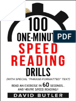 100 One-Minute Speed Reading Drills by David Butler