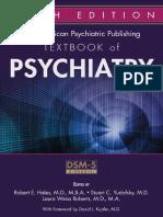 Textbook of Psychiatry