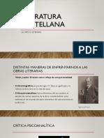 Literatura Castellana Crítica Literaria