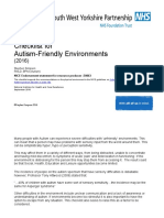 Checklist for Autism Friendly Environments September 2016