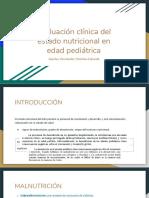 Evaluación Clínica Del Estado Nutricional en Edad Pediátrica