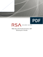 Rsa Securid Access Rsa Securid Authentication API Developers Guide