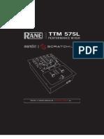 Scratch Live TTM 57SL 2.1 Manual
