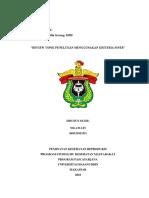 Tugas Individu Topik Dan Review Kriteria Penelitian FINER