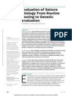 Evaluation of Seizure Etiology From Routine Testing to Genetic Evaluation