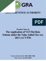 Practice Note on VAT Flat Rate Scheme