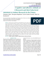 JHED, Cognitive Attitide and Affective Attitude of Students Toward Research (1)