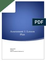 1a lesson plan