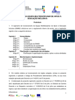 Regimento Da Equipa Multidisciplinar de Apoio à Educação Inclusiva