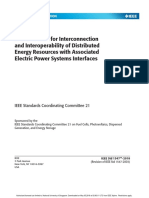 Ieee Standard for Interconnection and Interoperability of Distri
